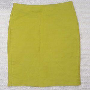 J. Crew Chartreuse Pencil Skirt, Sz 10